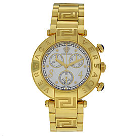New Ladies' Versace Reve 68C70D498S070 Yellow Gold Steel MOP Quartz 40MM Watch