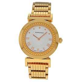 New Ladies' Versace Vanity P5Q80D001S080 Rose Gold Steel Quartz 35MM Watch