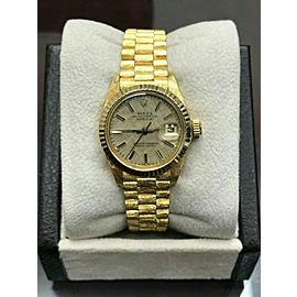 Rolex Ladies President Datejust 6917 Champagne Dial 18K Yellow Gold Florentine