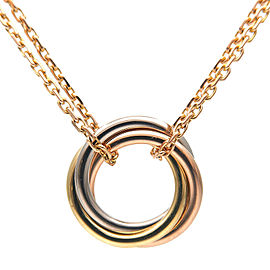 Authentic Cartier Sweet Trinity Necklace K18 750 Yellow/White/Rose Gold Used F/S