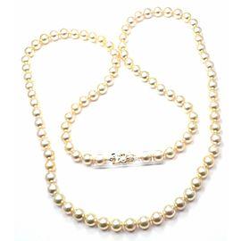"Mikimoto 18k Yellow Gold Cultured Akoya Golden Pearl 34"" Opera Necklace"