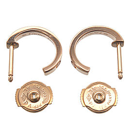 Authentic Cartier Mini Love Earrings K18PG 750PG Rose Gold Used F/S