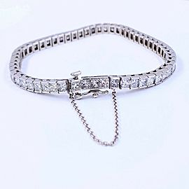 Princess Cut Diamond 12.00 CTW Tennis Bracelet 14K White Gold