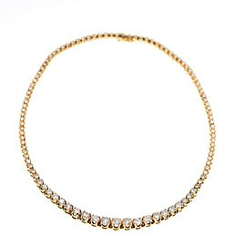 Riviera Round Brilliant Diamond Necklace 12.00 tcw 14 kt Yellow Gold