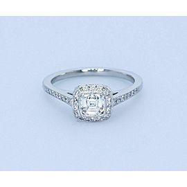 Tiffany & Co Legacy Platinum Cushion Diamond Engagement Ring 0.66 tcw H VVS1