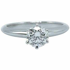 Tiffany & Co Platinum Diamond Engagement Ring Round 0.70 ct E VS1 $11,000 Retail