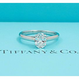 Tiffany & Co Oval Diamond 0.66 cts E VVS2 Solitaire Engagement Ring in Platinum