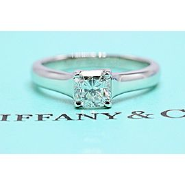 Tiffany & Co Lucida Platinum Diamond Engagement Ring 0.63 cts G VS1 $8600 Retail