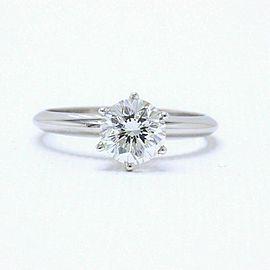 Leo Diamond Engagement Ring Round 1.05 ct H SI1 14k White Gold $11,000 Retail