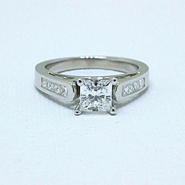 Celebration 18k White Gold Diamond Engagement Ring Princess 1.25 ct F SI1 $11K