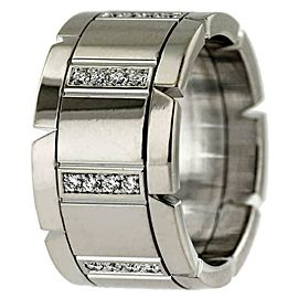 Cartier Tank Francaise Diamond Wedding Band Ring 18k White Gold Size 51 $5,000