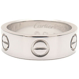 Authentic Cartier Love Ring Platinum PT950 #49 US5 HK11 EU49.5 Used F/S