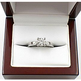 Celebration Diamond Engagement Ring Round 0.98 cts 14k White Gold