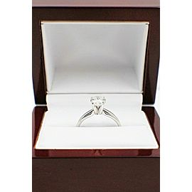 Brilliant Star Round Diamond Engagement Ring 1.05 ct 14k White Gold $8000 Retail