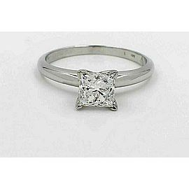 Leo Diamond Engagement Ring Princess Cut 0.98 ct 14k White Gold $8,400 Retail