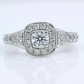 VERA WANG Diamond Engagement Ring Love Collection Round 1.25 tcw 14k White Gold