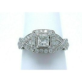 Neil Lane Diamond Engagement Ring Princess 1.38 tcw 14k White Gold $5,600 Retail