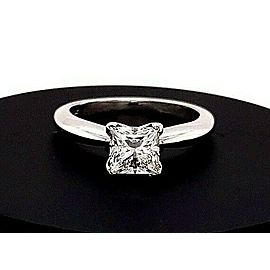 Princess Cut Diamond 1.03 Carat J SI2 GIA Solitaire Engagement Ring