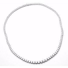 Asprey Platinum Graduating Diamond Riviera Necklace Box Certificate
