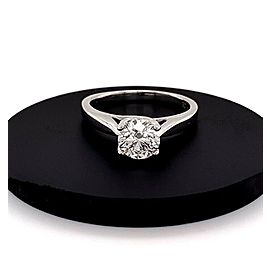 Round Brilliant Cut Diamond 0.81 Carat F I1 GIA Solitaire Engagement Ring