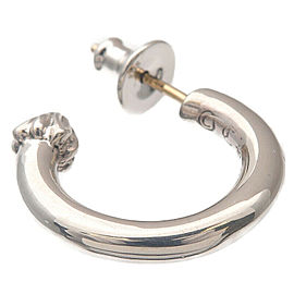 Authentic Chrome Hearts Plain Hoop Single Earring Silver 925 Used F/S