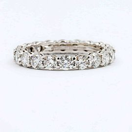 Tiffany & Co Full Circle Round Diamond Embrace Band Ring 3 MM 1.64 tcw Platinum