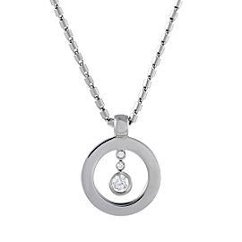 Roberto Coin Cento 18K White Gold with 0.30ct Diamond Circle Pendant Necklace
