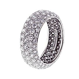 Tiffany & Co ETOILE 3.75 tcw Five Row Diamond Band Ring Platinum