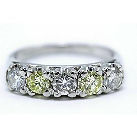 Fancy Light Yellow & White Diamond Wedding Band 1.00 tcw 14k $8,000 Retail