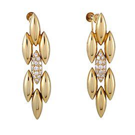 Cartier Gentiane 18K Yellow Gold with 0.60ct Diamond Dangle Screw Back Earrings