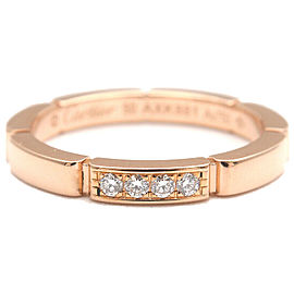 Auth Cartier maillon panthère Ring 4P Diamond RG #50 US5.5 EU50.5 Used F/S