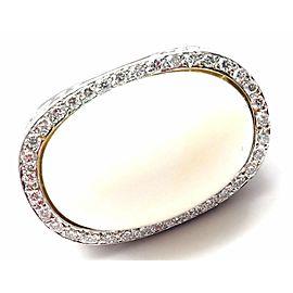 Carrera Y Carrera Aqua 18k White Gold Diamond White Agate Ring