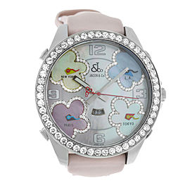 New Jacob & Co JC-ATH10 Five Time Zones 47MM 3.25 Carat Diamond Bezel MOP Watch