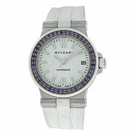 Ladies Bvlgari Bulgari Diagono DG35S Steel Sapphire Automatic Date 36MM Watch