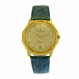 Unisex Baume & Mercier Riviera 87012 18K Yellow Gold Quartz 34MM Watch
