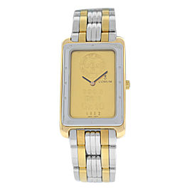 Men's Corum Ingot 64.400.21 Steel 24K 10 Gram Gold 999.9 Quartz Watch