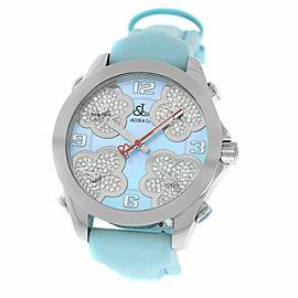 New Jacob & Co. Five Time Zone JCMATH14 $13300 MOP Diamond 40mm. Watch