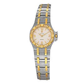 New Ladies' Concord Saratoga 16.25.1833S Diamond Gold 25MM Quartz $5,090 Watch