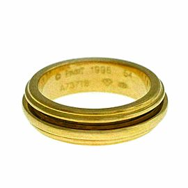New Piaget Possession 18K Yellow Gold 10 grams Size 54 7 Rotating Ring