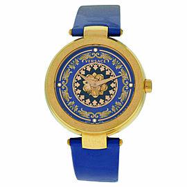 New Versace Mystique Foulard VK602 0013 Gold Tone Quartz Diamond 38MM Watch