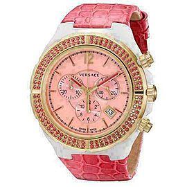 New Versace DV One Cruise 28CCP15D111 S111 Ceramic Rose Gold IP 43MM Topaz Watch
