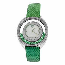 New Versace Destiny Spirit 86Q961MD497 S455 Floating Emeralds 38MM Diamond Watch