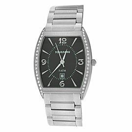 Unisex Tourneau 785 Stainless Steel Diamond 32MM Date Quartz Watch