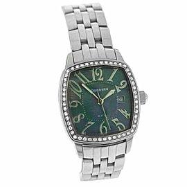 Ladies Tourneau 775 Quartz Steel MOP Diamonds 27MM Watch