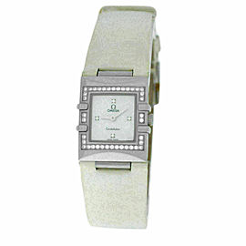 Ladies Omega Constellation Quadra 1835.76.56 Quartz MOP Diamond Watch