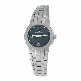 Ladies' Maurice Lacroix Milestone MS1013-SS002-310 Steel $1550 Quartz 29MM Watch