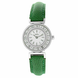 Ladies Girard-Perregaux Integrale Steel Date 26MM Quartz See Through Back Watch