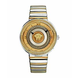 New Versace V-Metal Icon VLC080014 Gold Electroplated Steel Quartz 40MM Watch