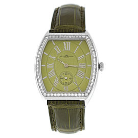 Ladies Van der Bauwede Lady Legend Diamond Silver 800 Quartz 34MM Watch