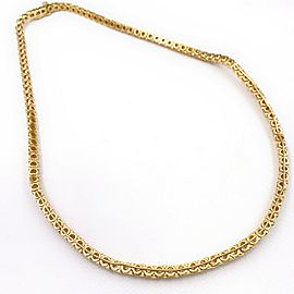 Round Diamond Necklace 5.50 tcw in 18kt Yellow Gold